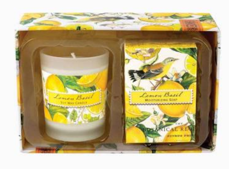 Michel Design Candle  & Soap Gift Set