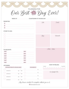Bloom Wedding Planning Pad