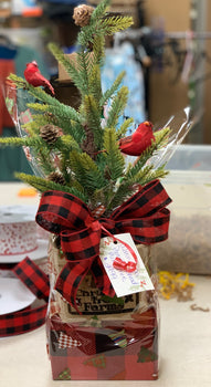 Christmas Tree & Gourmet Mix Gift Basket
