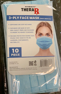 10 Pack of 3-Ply Face Masks