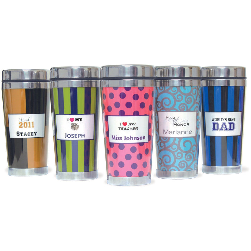 Paparte personalized travel mug