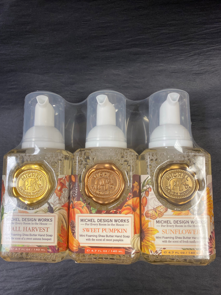 Michel Design 3 pc Autumn Scent Mini Foaming Soap