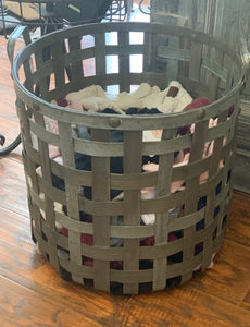 Rustic Farmhouse Strap Basket