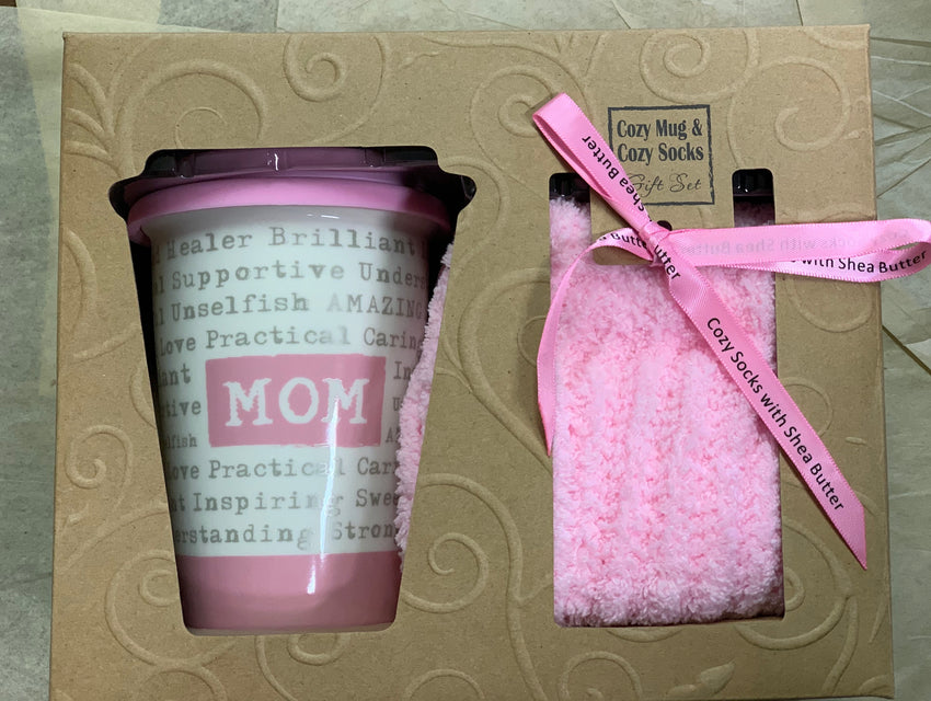 Cozy Mom Mug & Socks Gift Set