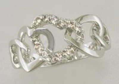 Hearts Intertwined Ring Style 2