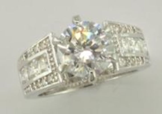 Genuine Cubic Zirconia Ring Style 9
