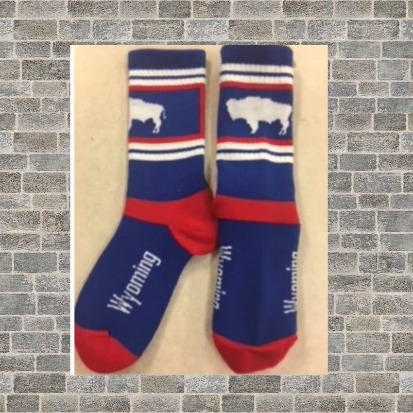 Buffalo blue Wyoming Socks