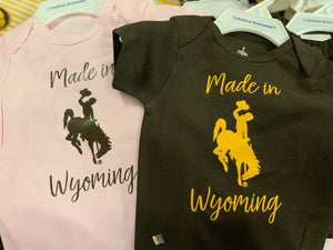 Made in Wyoming baby onsies
