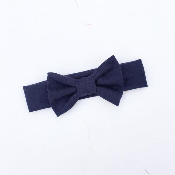 'Navy' Big Bow Headband