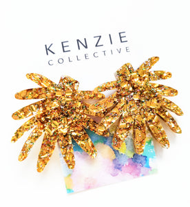 'Fire Mega' Statement Stud Earrings - CHOOSE COLOUR