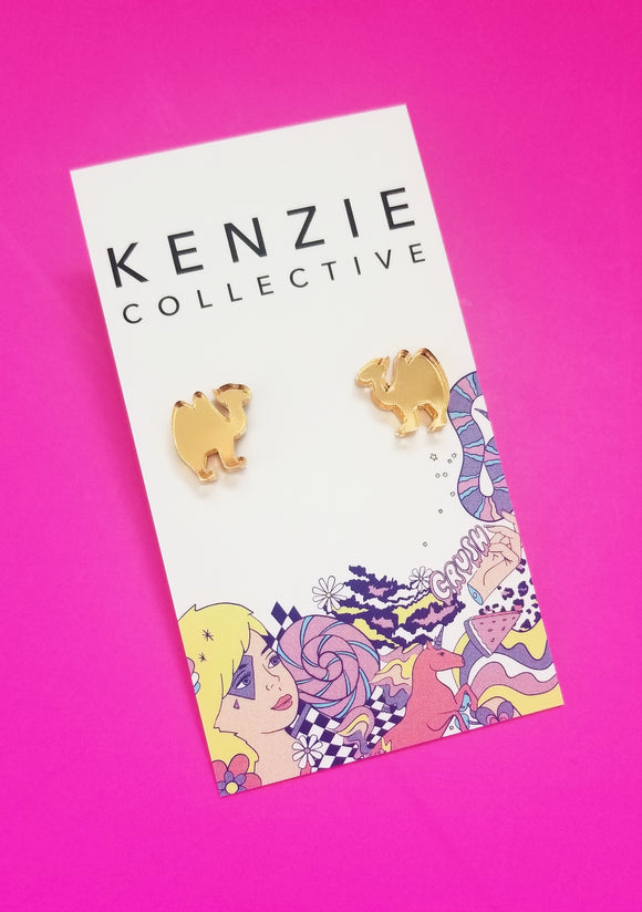 'Camel' Stud Earrings - CHOOSE COLOUR