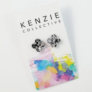 'Frill' Stud Earrings - CHOOSE COLOUR