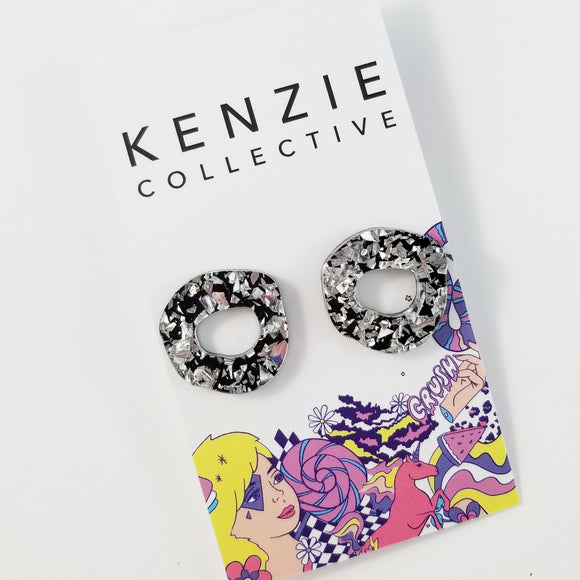 'Organic O's' Stud Earrings - CHOOSE COLOUR