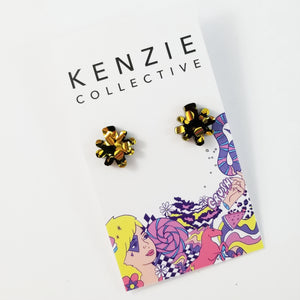 'Fire Explosion' Stud Earrings - CHOOSE COLOUR