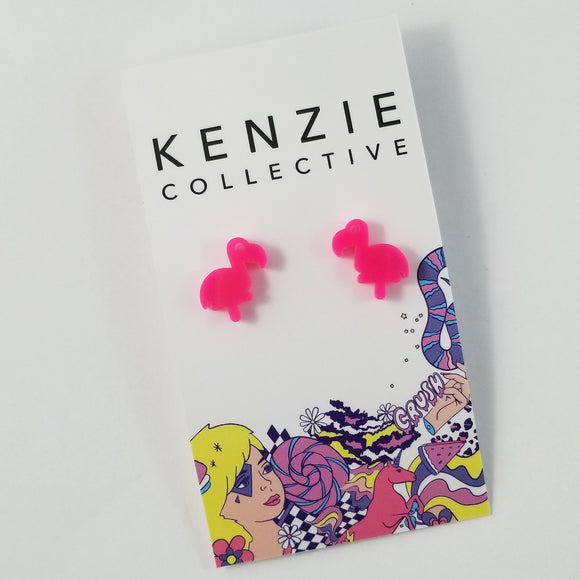 'Flamingo' Stud Earrings - CHOOSE COLOUR