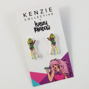 'The Muse - Green Girl' Stud Earrings