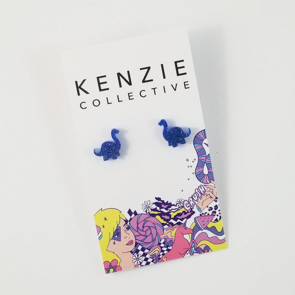 'Brontosaurus' Stud Earrings - CHOOSE COLOUR