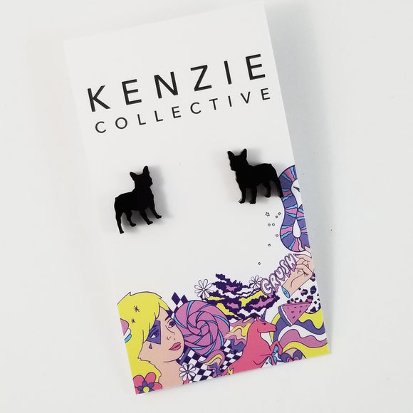 'French Bulldog' Stud Earrings - CHOOSE COLOUR