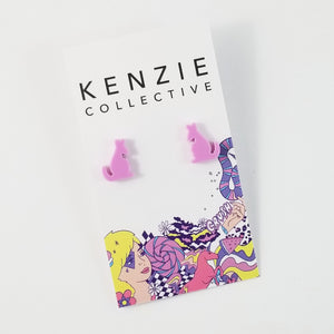'Kangaroo' Stud Earrings - CHOOSE COLOUR