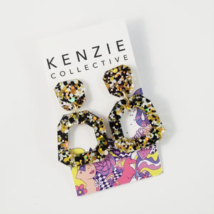 'Georgia' Dangle Earrings - CHOOSE COLOUR