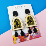 'You Had Me At Yellow #2' Statement Dangle Earrings