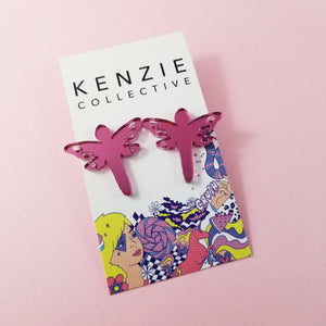 'Buglet - Dragonfly' Stud Earrings - CHOOSE COLOUR