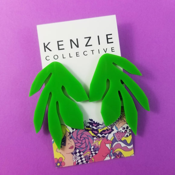 'Ferny Leaf' Stud Earrings - CHOOSE COLOUR
