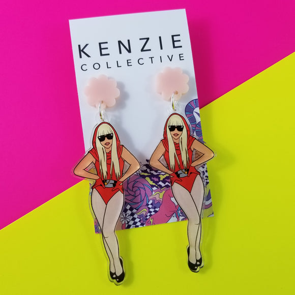 'Rock Chicks - Gaga' Dangle Earrings