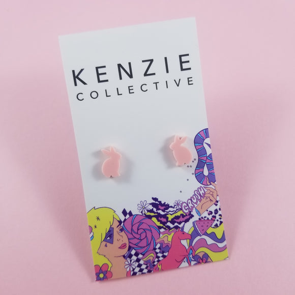 'Bunny' Stud Earrings - CHOOSE COLOUR