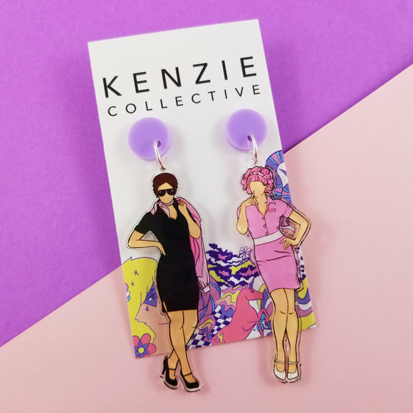 'Famous Females - Rizzo & Frenchie' Dangle Earrings