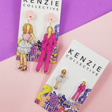 'Famous Females - Carrie & Samantha' Dangle Earrings