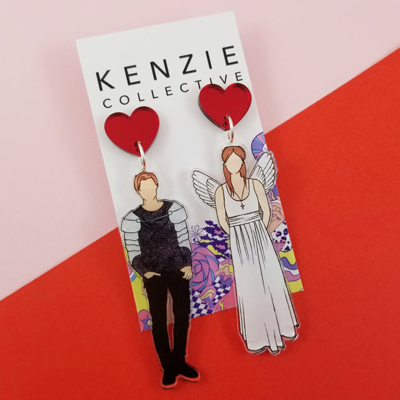 'Loved Up Duo - Romeo & Juliet' Dangle Earrings