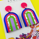 'Synergy Clash' Statement Dangle Earrings ©️