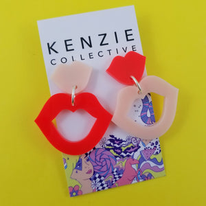 'Kissy Kissy' Dangle Earrings - CHOOSE COLOUR