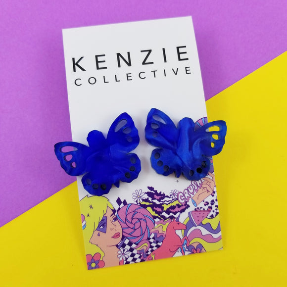 'Buglet - Butterfly' Stud Earrings - CHOOSE COLOUR