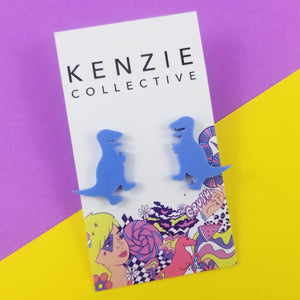 'Dino - Maxi Rex' Stud Earrings - CHOOSE COLOUR