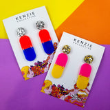 'Pillar' Dangle Earrings - CHOOSE COLOUR