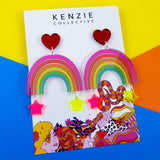 'Mrs Rainbow' Dangle Earrings