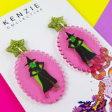 'Yellow Brick Road - Bad Witch' Dangle Earrings