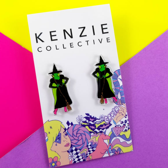 'Yellow Brick Road - Bad Witch' Stud Earrings