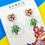 'Plant me some Colour - Hanging Bakset #1' Dangle Earrings