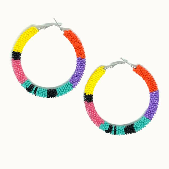 'Large #4' Hoop Earring