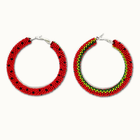'Large #12' Hoop Earring