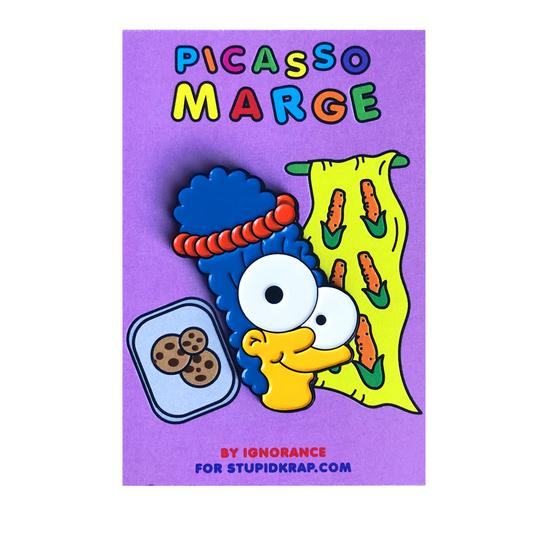 'Picasso Marge' Enamel Pin