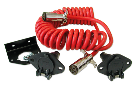 6 Wire Coiled Power Cord
