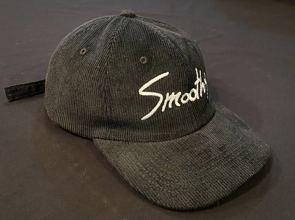 Smoothy Signature Cord Hat - Black