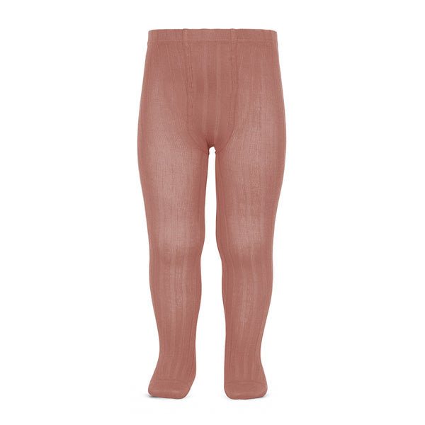 CONDOR TIGHTS - Ribbed in SALMON PINK