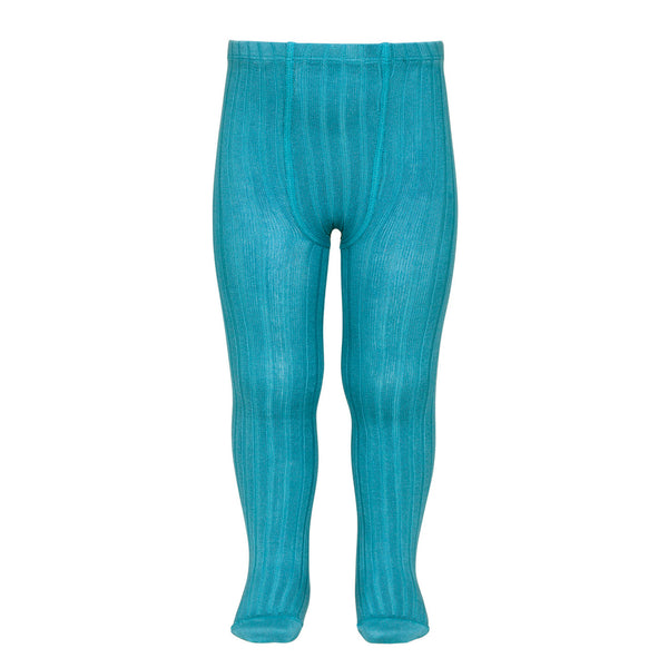 CONDOR TIGHTS - Ribbed in TURQUOISE
