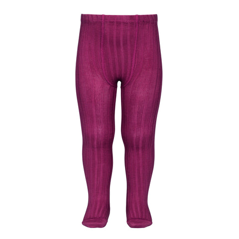 CONDOR TIGHTS - Ribbed in CERISE
