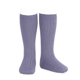 CONDOR SOCKS - Ribbed Knee-High in LILAC